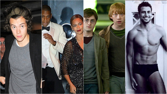 Harry Potter, Beyoncé, Cauã, Harry Styles