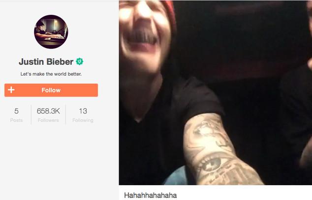 Justin Bieber estreia no Vine