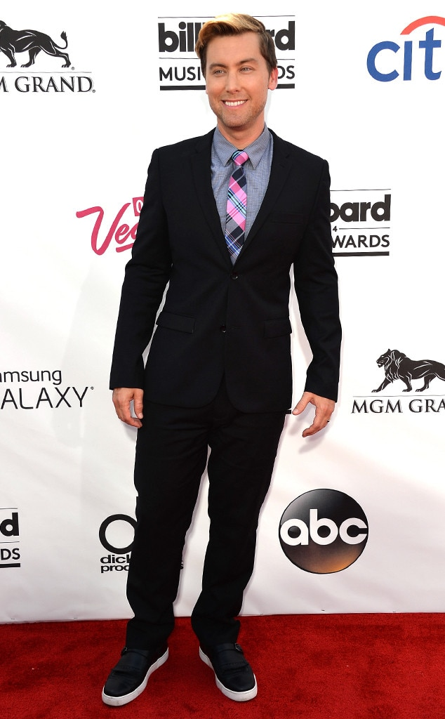 Lance Bass -  The singer smiled on the red carpet as he arrived to the 2014 Billboard Music Awards.