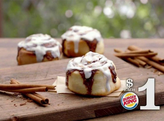 Burger King cinnamon roll