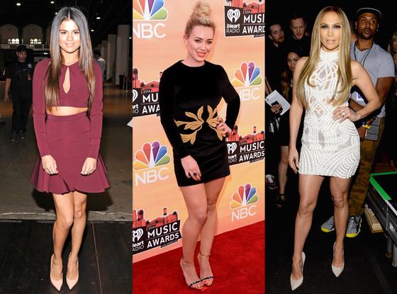 Selena Gomez, Hilary Duff, Jennifer Lopez, Best Dressed, iHeartRadio Music Awards