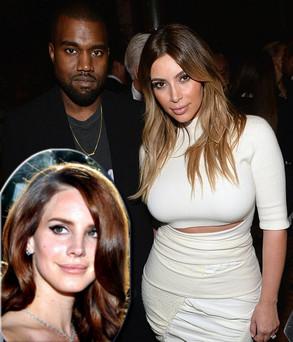 Kim Kardashian Kanye West e Lana Del Rey