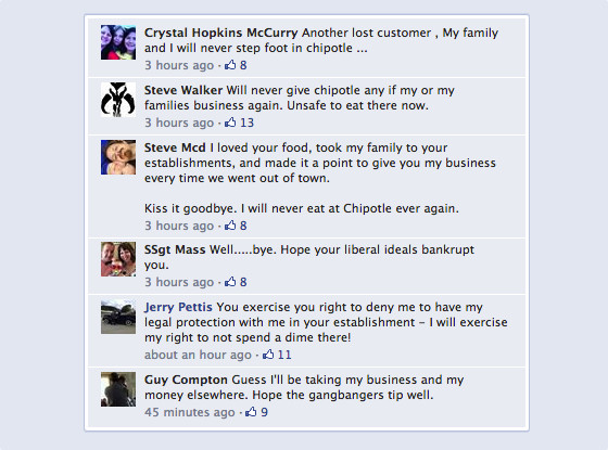 Chipotle, Facebook
