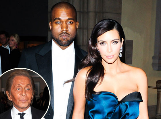 Kim Kardashian, Kanye West, Valentino Garavani