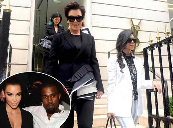 Kris Jenner, Kourtney Kardashian, Kylie Jenner, Kanye West