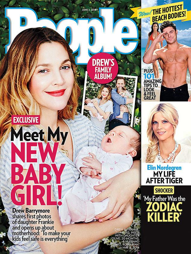 Drew Barrymore, People Magazine, Frankie