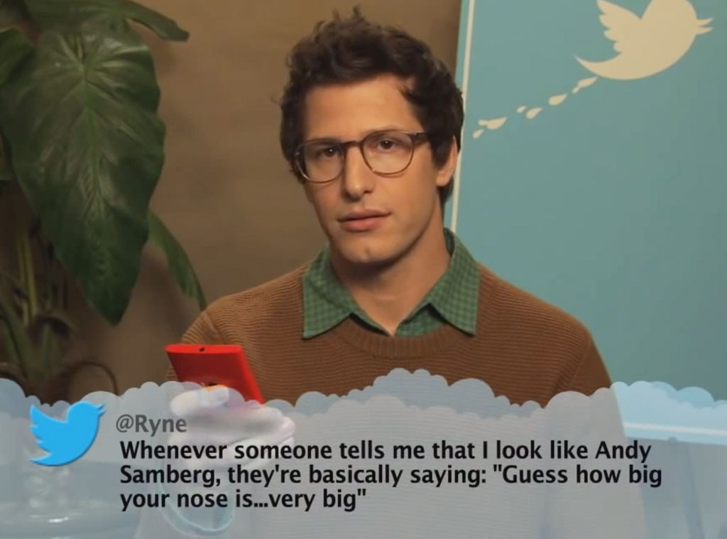 Andy Samberg from Celebrity Mean Tweets From Jimmy Kimmel ...