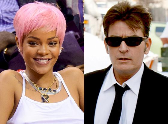 Charlie Sheen, Rihanna