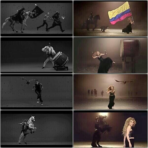Shakira, La la la, Woodkid, iron, video