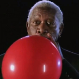 Morgan Freeman, Helium Balloon