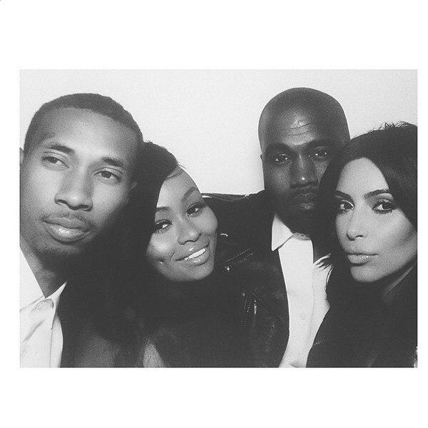 Kim Kardashian, Kanye West, Blac Chyna, Tyga, Wedding, Instagram