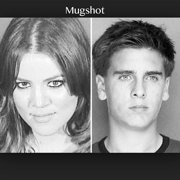 Khloe Kardashian, Scott Disick, Mug Shot, Instagram