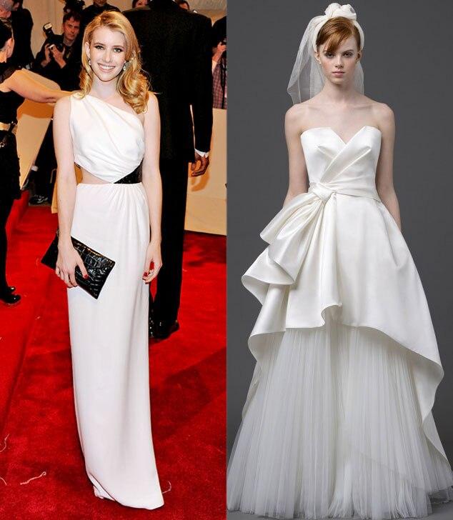 Celeb Wedding Gown Predictions, Emma Roberts