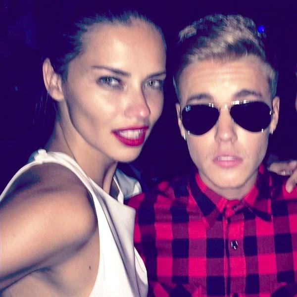 Justin Bieber, Adriana Lima