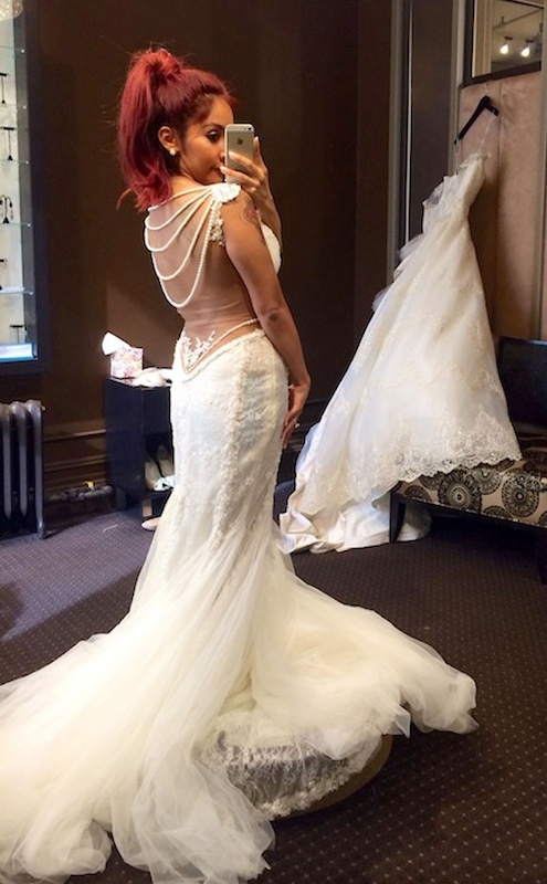 2d0918874a9 Snooki Tries on a Wedding Dress But Wants Something With More of an  UMPH—See the Pic!