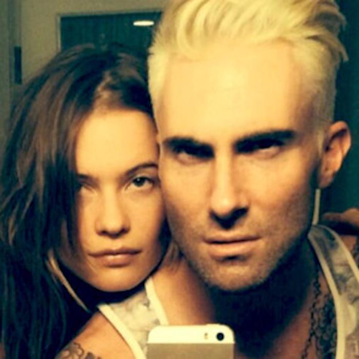 Adam Levine Debuts Crazy Platinum Blond Dosee The Pic E News