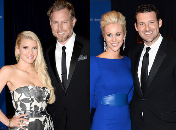 Eric Johnson, Jessica Simpson, Candice Romo, Tony Romo