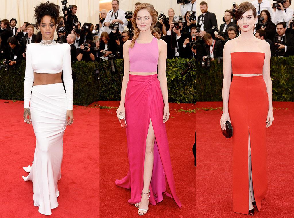 MET Gala Trends, Crop Tops, Rihanna, Emma Stone, Anne Hathaway