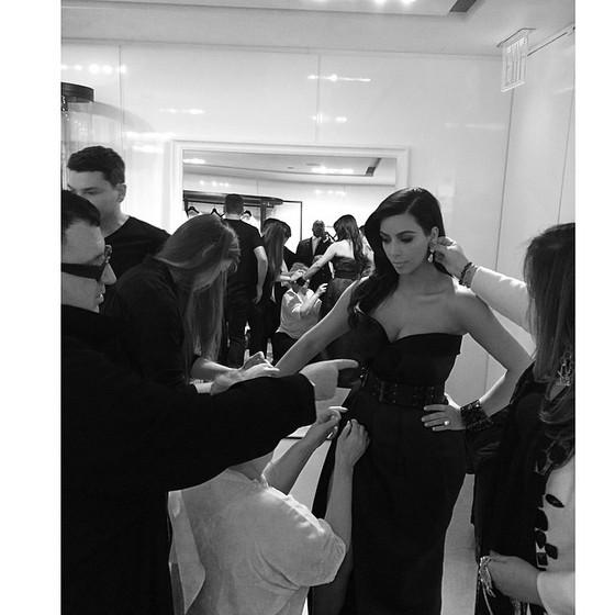 Kim Kardashian dressing up