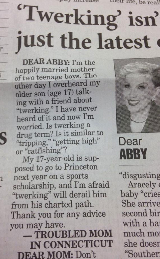 Dear Abby, Twerking