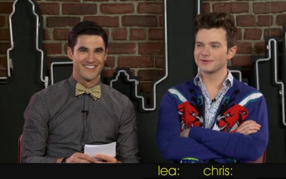 Darren Criss, Chris Colfer, Glee