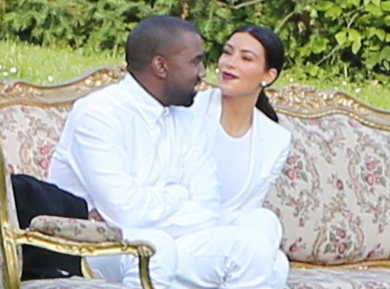 Kim Kardashian and Kanye West Canoodle at Stylist Pal's Wedding in Prague -- See the Pics!
