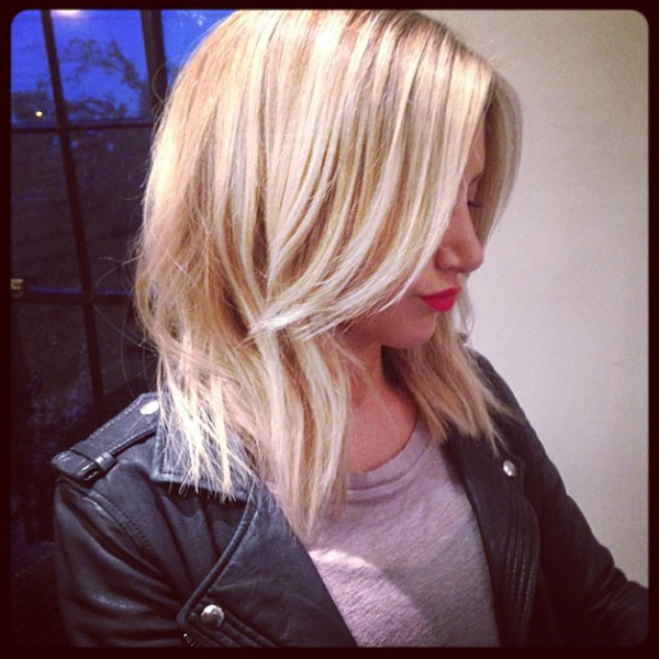 Ashley Tisdale, Hair, Instagram
