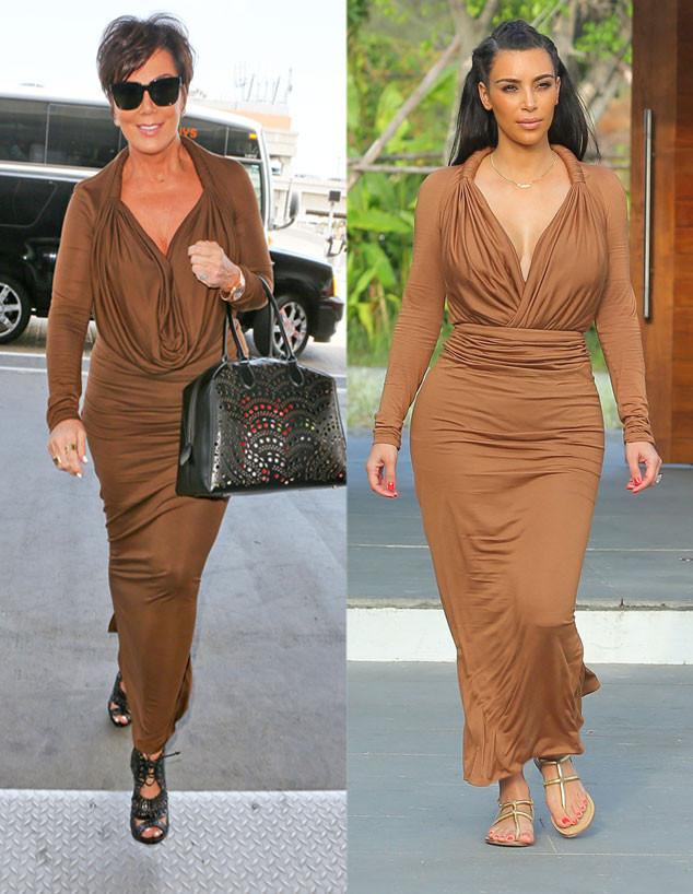 Kris Jenner, Kim Kardashian, Style Sharing