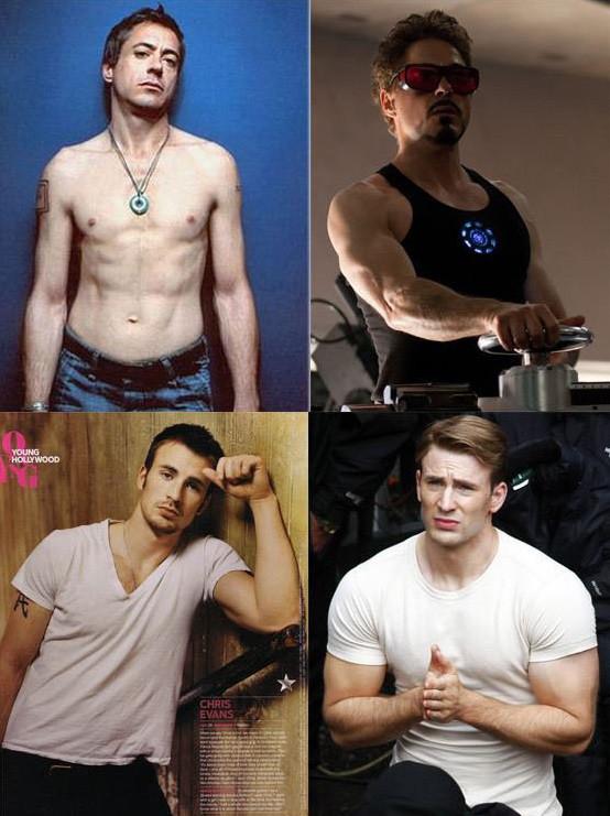 Marvel antes e depois