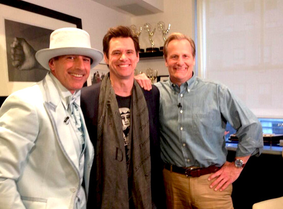 Matt Lauer, Jim Carey, Jeff Daniels