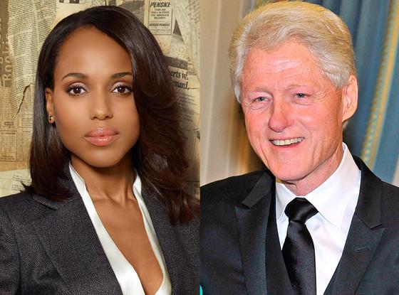 Kerry Washington, Scandall, Bill Clinton