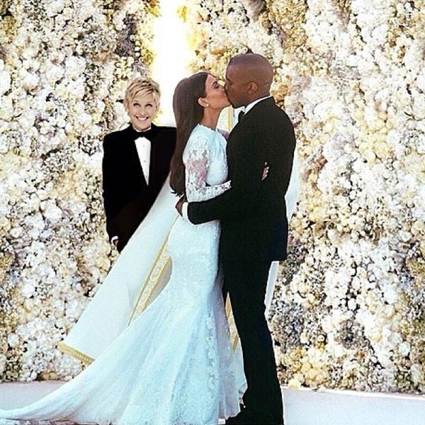 Ellen And Portia Wedding.Ellen Degeneres Was Kinda But Not Really At Kim Kardashian And