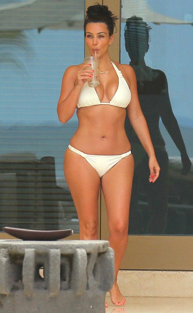 White Kim bikini kardashian