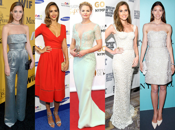 b8ee474eaad Best Looks of the Week  Jessica Alba s Bright Red Dress