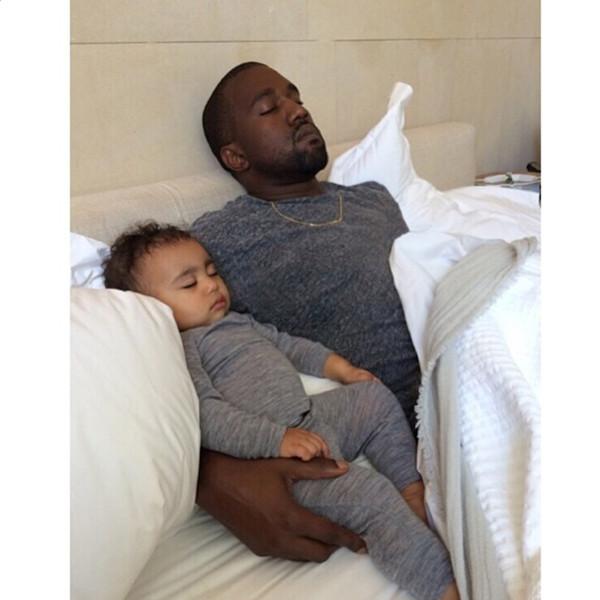 Kanye West, North West, Kim Kardashian, Instagram