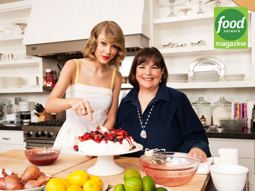 Taylor swift day drinks with barefoot contessa host ina garten and tries her first ever whiskey - Barefoot contessa cooking show ...