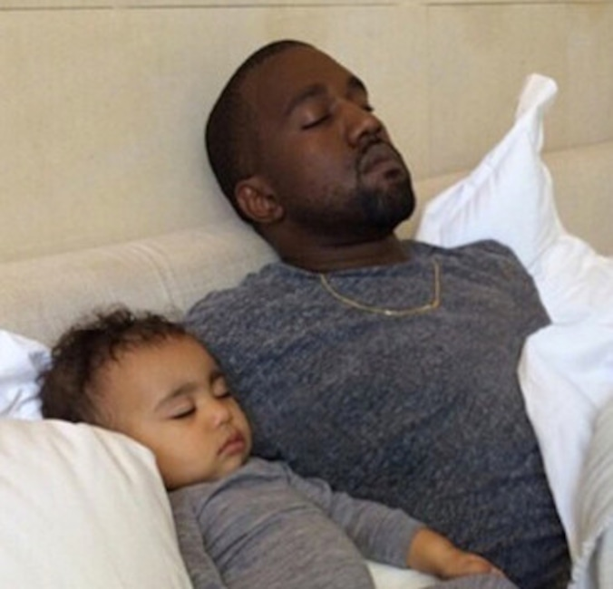 Kanye West, North West, Kim Kardashian, Instagram