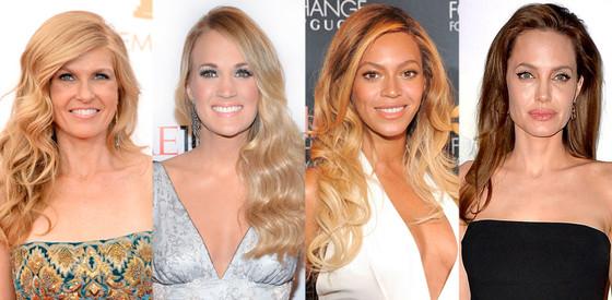 Best Female Hair: Connie Britton, Carrie Underwood, Beyonce, Angelina Jolie