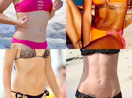 Best Female Abs: Cameron Diaz, Rihanna, Megan Fox, Gwen Stefani