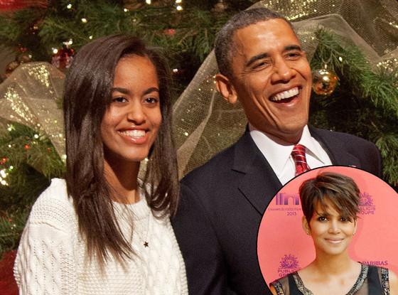 Malia Obama, Barack Obama, Halle Berry