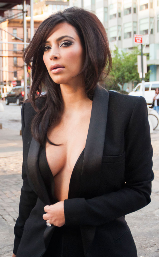 0ec0ffdf0d9 Kim Kardashian Skips a Bra and Flashes Major Cleavage in New York City—See  the Pic!