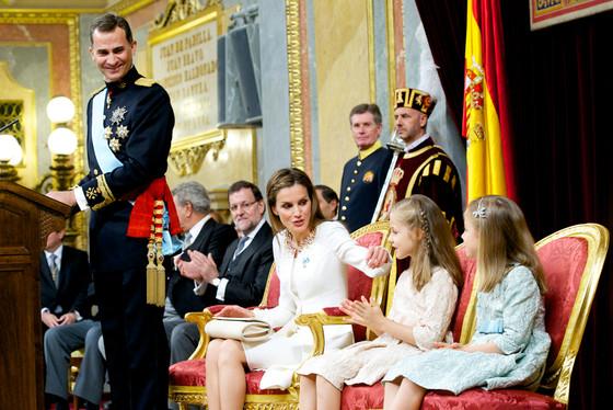 Princess Leonor, Princess of Asturias, King Felipe VI of Spain, Queen Letizia of Spain and Princess Sofia