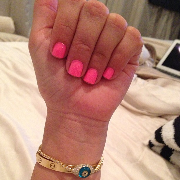 Bright Nails from Latest Kardashian Trends