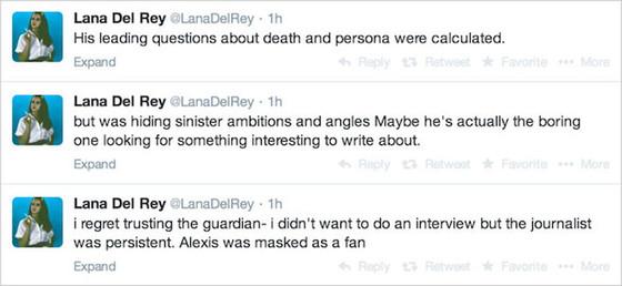 Lana Del Rey, Guardian Tweets
