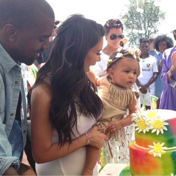 Kanye West, Kim Kardashian, North West, Kidchella, Instagram