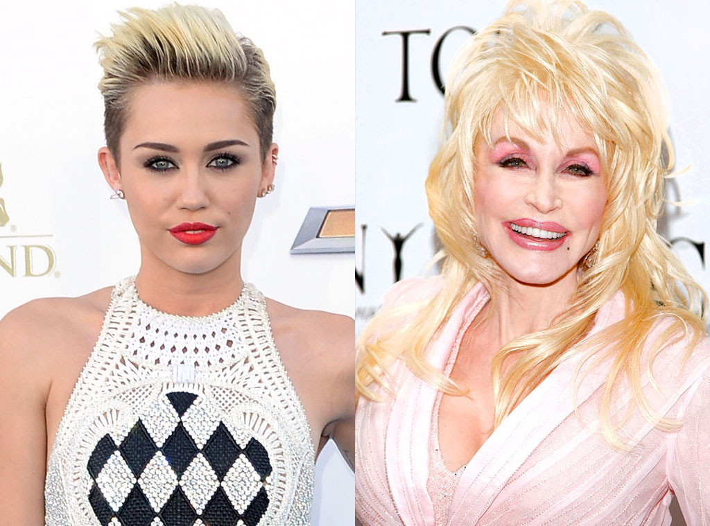 Miley Cyrus, Dolly Parton, Godparents