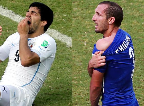 Luis Suarez, Giorgio Chiellin, World Cup