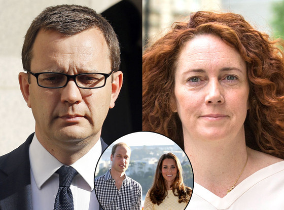 Rebekah Brooks, Andrew Coulson, Kate Middleton, Prince William