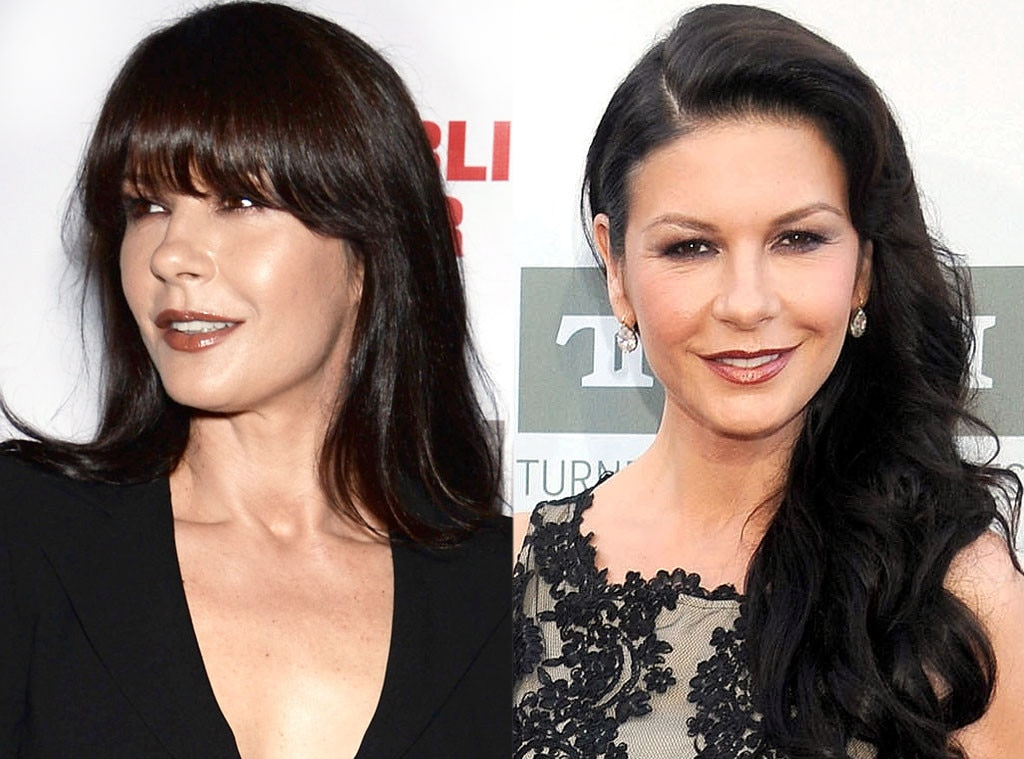 Cahterine Zeta-Jones, Bangs