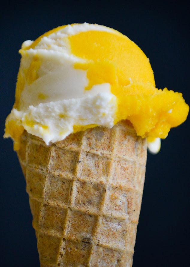 Best Ice Cream, Pumphouse Creamery, Passionfruit and Mango sorbet